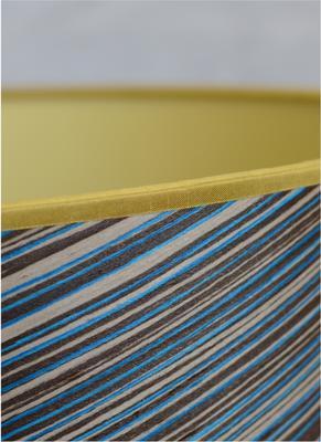 Blue stripe veneered cone shade image 2