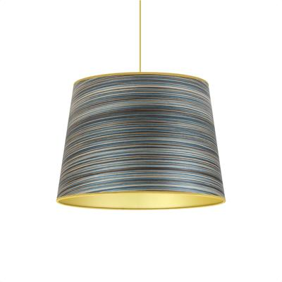 Blue stripe veneered cone shade