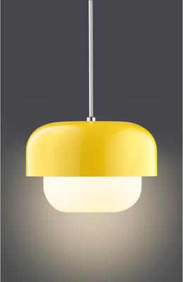 Aluminium and Glass Pendant Lamp in Yellow image 3