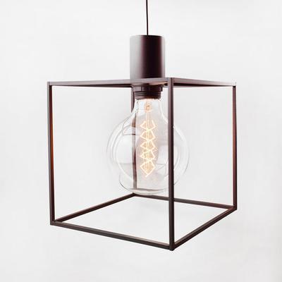 Paradice Naked Black Cube Pendant Light Minimalist