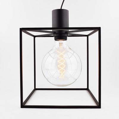 Paradice Naked Black Cube Pendant Light Minimalist image 2