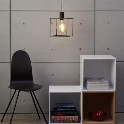 Paradice Naked Black Cube Pendant Light Minimalist image 3