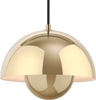 Panton Flowerpot Pendant Light Polished Brass