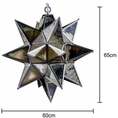 Antiqued Glass Star Pendant Lamp image 2