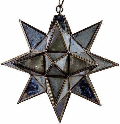 Antiqued Glass Star Pendant Lamp image 3