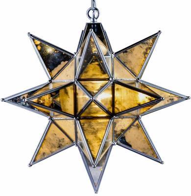 Antiqued Glass Star Pendant Lamp image 4