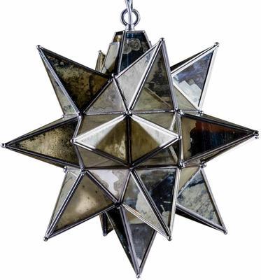 Antiqued Glass Star Pendant Lamp image 5