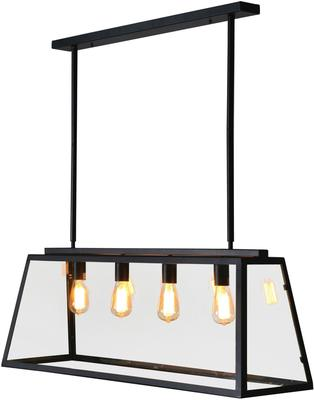Glass and Metal Over-Table Ceiling Lamp Array