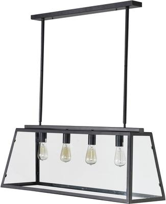 Glass and Metal Over-Table Ceiling Lamp Array image 4