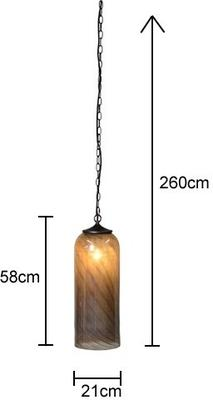 Glass Cylinder Ceiling Lamp image 2