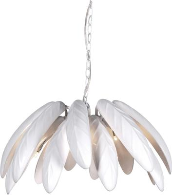 Large Leaves Ceiling Lamp in White