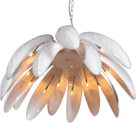 Large Leaves Ceiling Lamp in White image 3