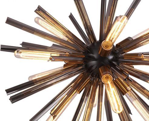 Nuclear Starburst Large Pendant - Brass image 2