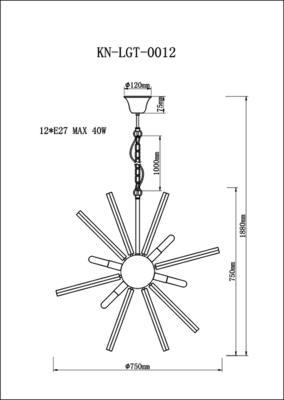 Nuclear Starburst Large Pendant - Brass image 3