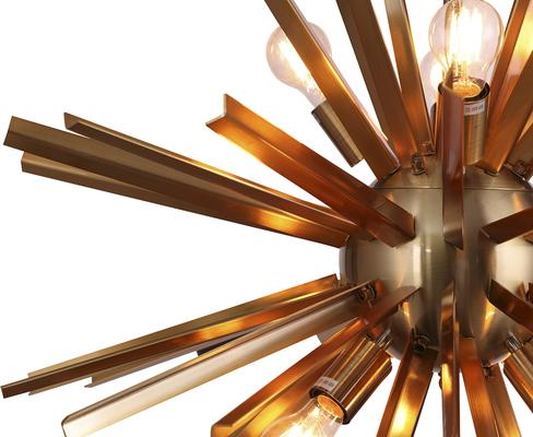Nuclear Starburst Large Pendant - Brass image 5