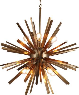 Nuclear Starburst Brass Pendant