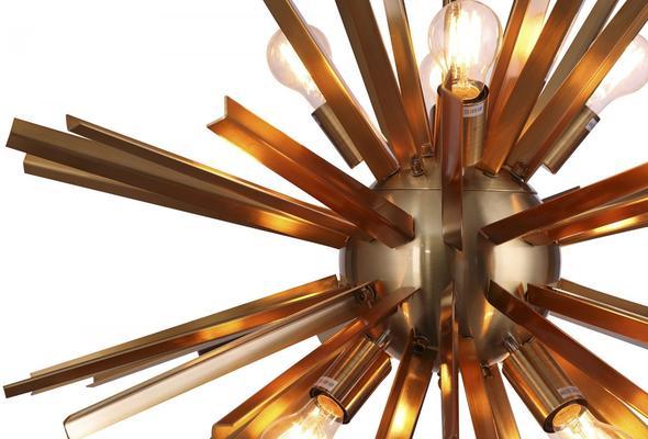 Nuclear Starburst Brass Pendant image 2