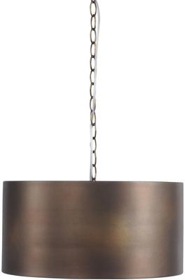 Homestead Vintage Bronze Drum Pendant Light