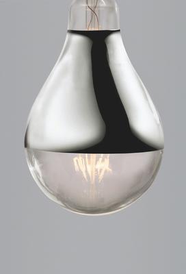 Nostalgia Lights Industrial Edison Spotlight Led Silver