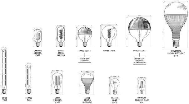 Nostalgia Lights Large Edison Spotlight Led Silver image 2