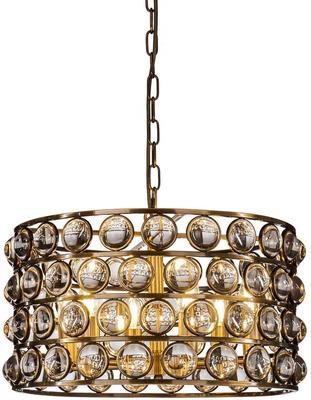 Orion Crystal Cylinder Brass Pendant