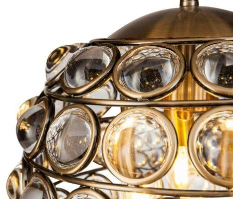 Colbert Crystal Globe Pendant Lamp Small image 3