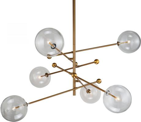 Polaris Pendant Lamp Glass Shades Metal Frame image 4