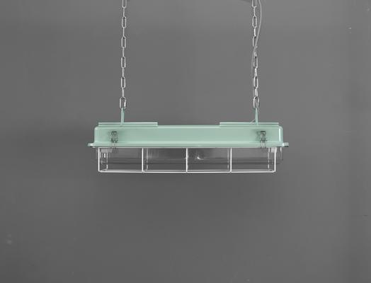 CAGED INDUSTRIAL STRIP LIGHT – 2FT TURQUOISE image 2