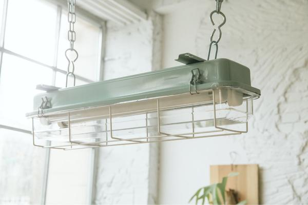 CAGED INDUSTRIAL STRIP LIGHT – 2FT TURQUOISE image 5