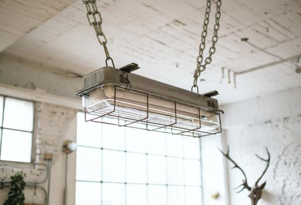 CAGED INDUSTRIAL STRIP LIGHT – 2FT GALVANISED image 5