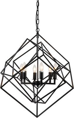 Cubic Geometric Pendant Lamp Matt Black