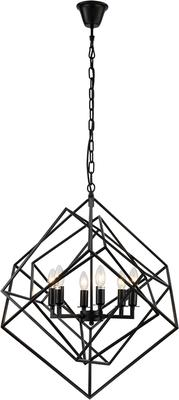 Cubic Geometric Pendant Lamp Matt Black image 2