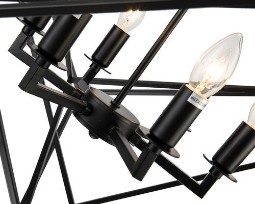 Cubic Geometric Pendant Lamp Matt Black image 3