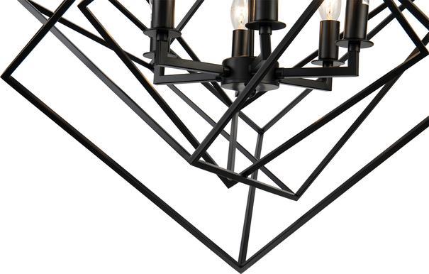 Cubic Geometric Pendant Lamp Matt Black image 4