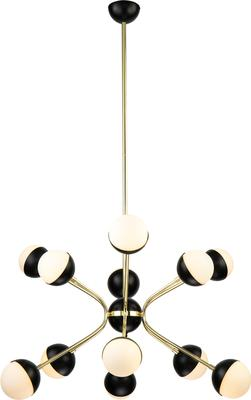 Colbert 9 Retro Pendant Lamp Glass and Brass image 2