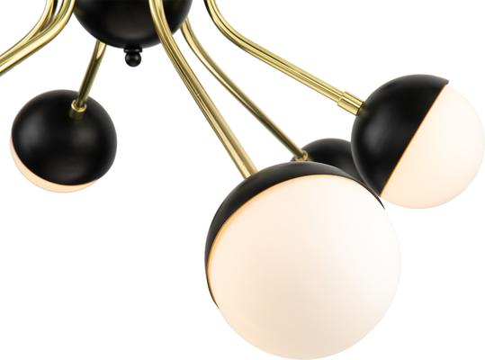 Colbert 9 Retro Pendant Lamp Glass and Brass image 4