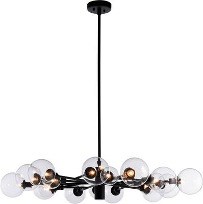 Brooklyn Ceiling Light Matt Black Arms