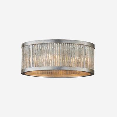 Sophie Art Deco Burnished Silver Leaf Ceiling Light image 2