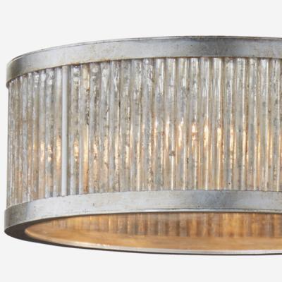 Sophie Art Deco Burnished Silver Leaf Ceiling Light image 3