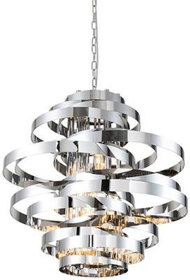 Volcano Ribbon Pendant Lamp in Gold or Steel