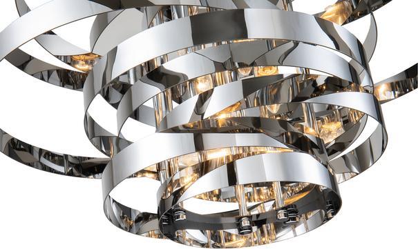 Volcano Ribbon Pendant Lamp in Gold or Steel image 4