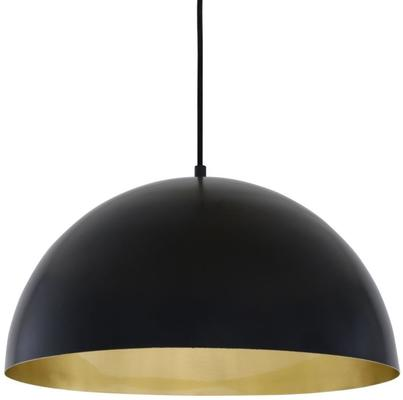 Avon Large Dome Pendant Black or White with Brass Interior 40cm