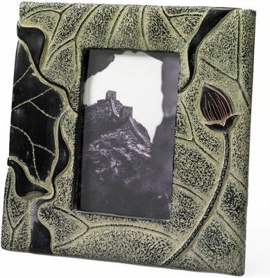 Stone Lotus Photo Frame