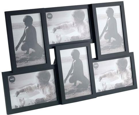 Isernia 6 Multi Photo Frame - Black