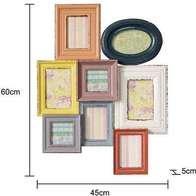 Combination Photo Frame for Eight Pictures Distressed Finish image 2