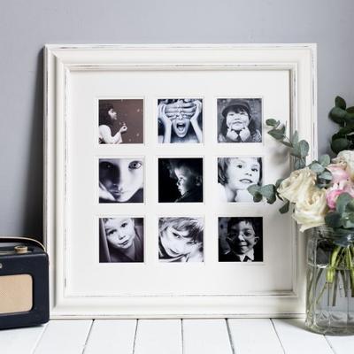 Distressed Nine Multi Photo Frame