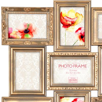 Maggiore Gold Multi Photo Frame 12 Photos image 2