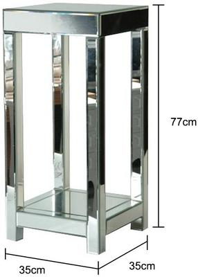 Venetian Plant Stand in Mirrored Glass image 2