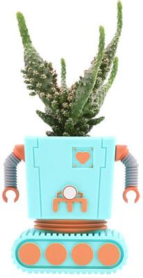 Planter Bot Funky Flower Pot - Blue image 3