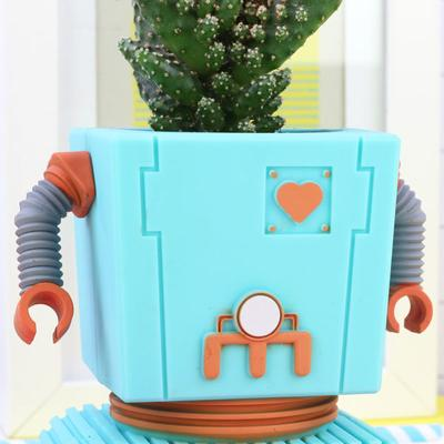 Planter Bot Funky Flower Pot - Blue image 4
